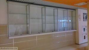 Торговое оборудование Краснодар. Встроенные витрины для демонстрации товаров.