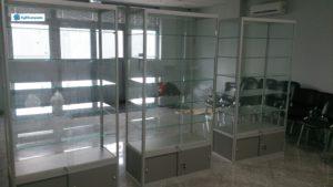 Торговое оборудование Краснодар. Стеклянные витрины с алюминиевым профилем