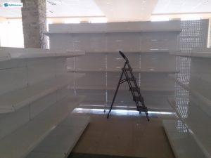 Торговое оборудование Краснодар. Обустройство магазина. Металлические стеллажи в Краснодаре.