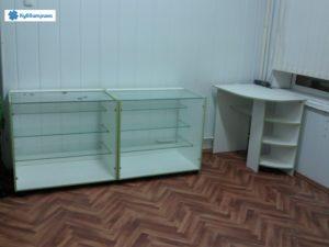 Торговое оборудование Краснодар. Обустройство магазина, прилавки, офисный стол, вирины