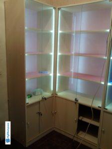 Торговое оборудование Краснодар. Стандартные витрины с боковой подсветкой