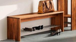скамья для прихожей с полками для обуви