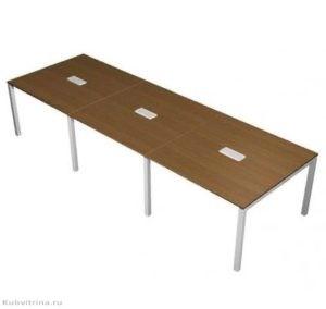 Прямоугольный стол для переговоров с двумя кабель-каналами. 240х120х76. ЛДСП 32 мм., кромка ПВХ. ножки: сталь, количество посадочных мест: 8, прямоугольная форма. 71 000 руб