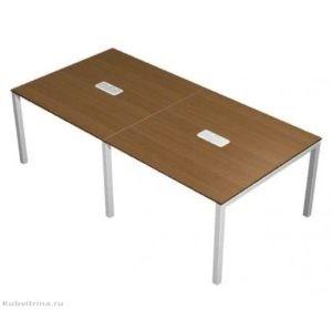 Прямоугольный стол для переговоров с кабель-каналами. 240х120х76. ЛДСП 32 мм., кромка ПВХ. ножки: сталь, количество посадочных мест: 6, прямоугольная форма. 50 000 руб