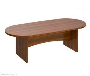 Овальный стол для переговоров. 239х110х75. ЛДСП 32 мм., кромка ПВХ. количество посадочных мест: 8, овальная форма.