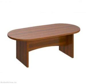 Овальный стол для переговоров. 206х103х75. ЛДСП 32 мм., кромка ПВХ. количество посадочных мест: 6, овальная форма.