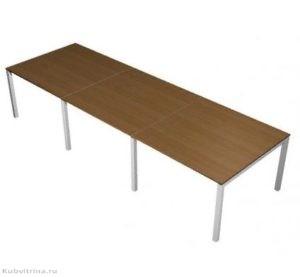 Прямоугольный стол для переговоров. 240х120х76. ЛДСП 32 мм., кромка ПВХ. ножки: сталь, количество посадочных мест: 8, прямоугольная форма. 55 000 руб