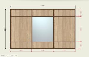 Проект шкафа-купе в жилой дом